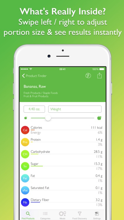 CalorieGuide Food Nutrition Facts Calculator for Fresh Produce & Healthy Diet Living screenshot-3