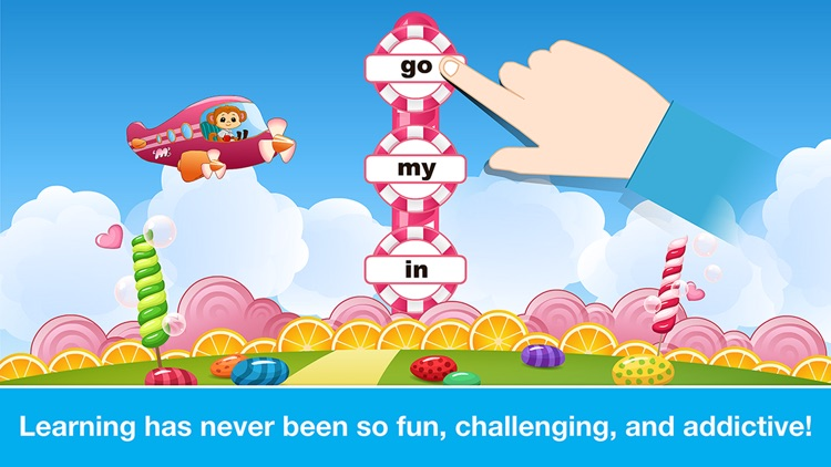 Sight Words Games in Candy Land - Reading for kids screenshot-4