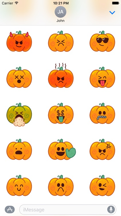Jack-o-Moji Stickers by Mojimade