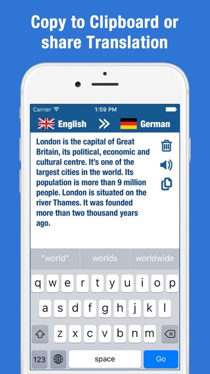 English German Translator - Dictionary Translation screenshot-3