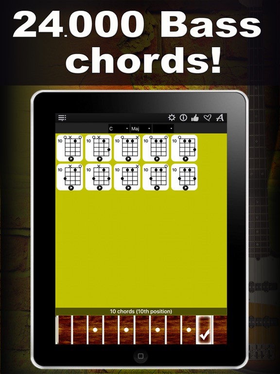 Bass Chords Compass Learn Play Chord Charts App Price Drops