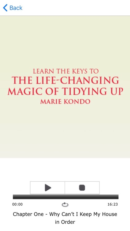 The Life Changing Magic of Tidying Up by Marie Kondo App Meditations Audiobook