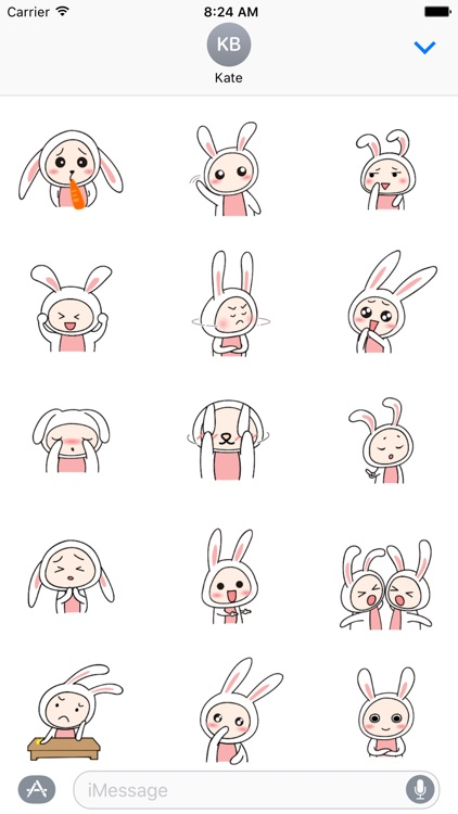 Super cute rabbit Animated - Fx Sticker