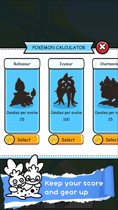 Poke Calculator CP IV Evolution for Pokemon GO ! by C M H (iOS