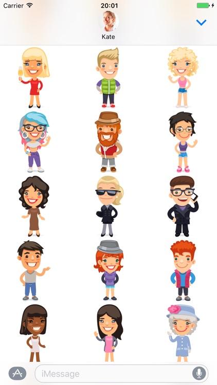 Cartoon people - Stickers for iMessage screenshot-3