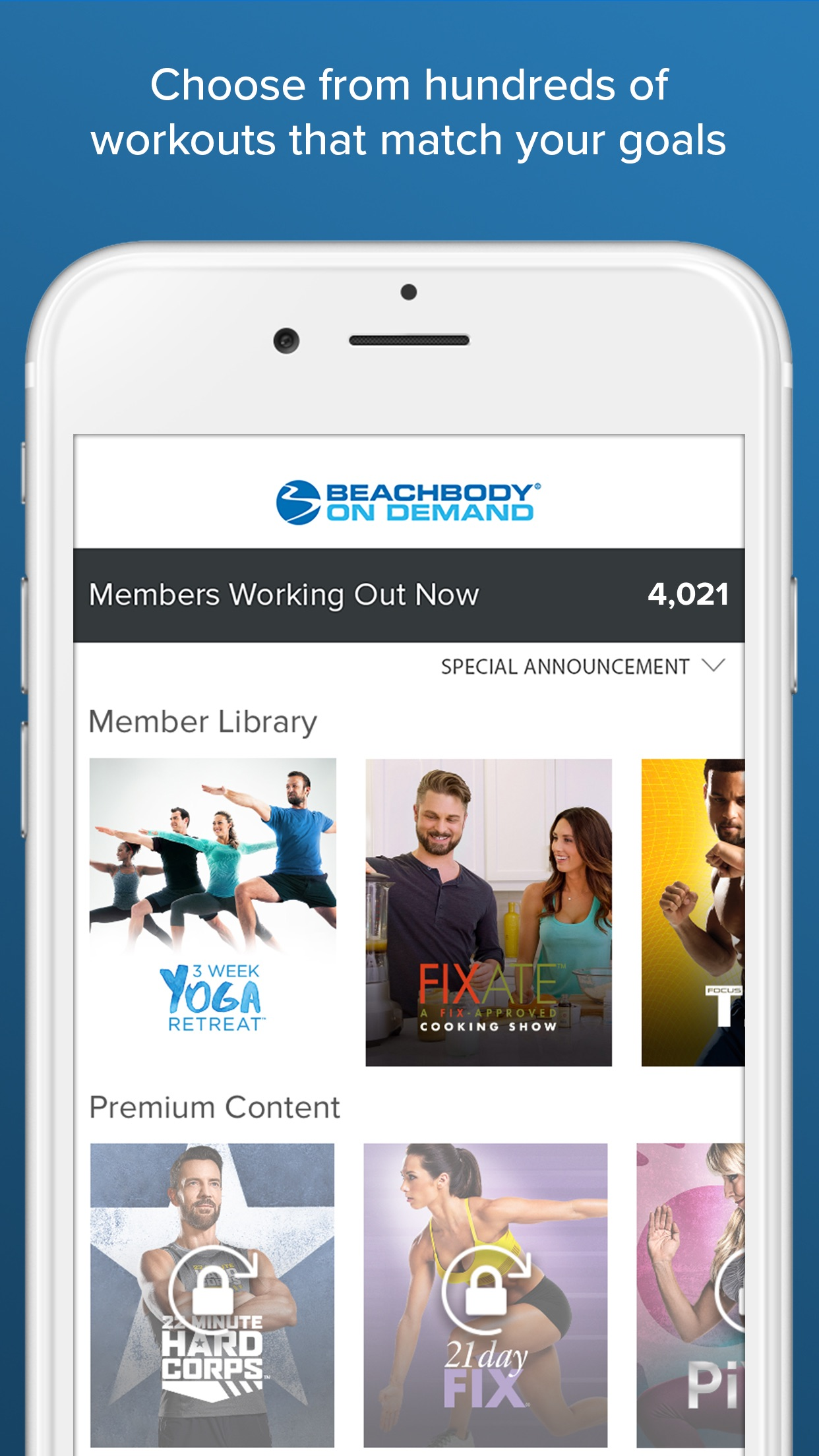 Beachbody On Demand Screenshot