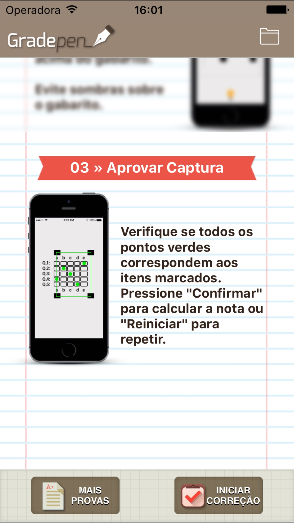 Screenshot do app Gradepen