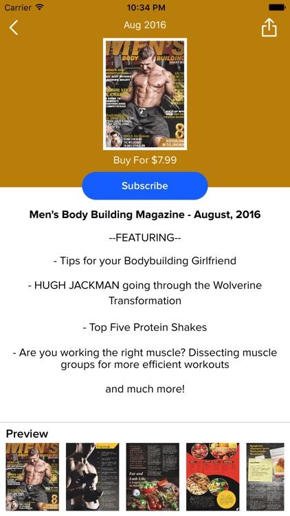 Men's Body Building Magazine