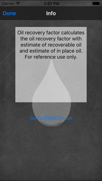 Oil Recovery Calc
