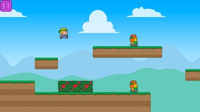 Villagers vs Robots Run Lite screenshot one