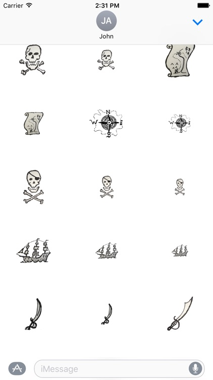Nautical Pirate Stickers screenshot-3