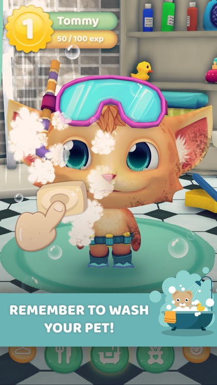My talking Virtual Pet: Cat Care - Game for Kids screenshot-3