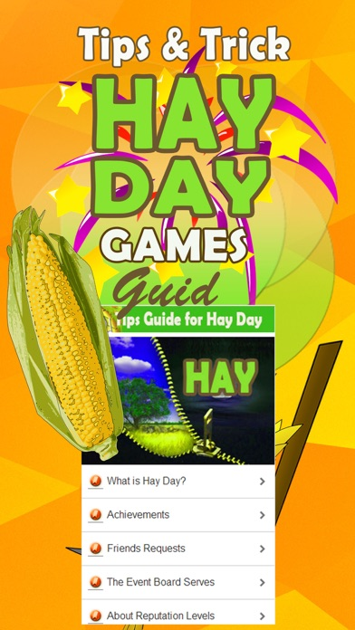 Tips Guide for Hay Day Cheats Games Screenshot on iOS