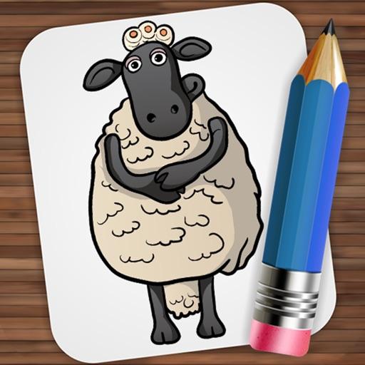 Drawing For Shaun The Sheep By Ekaterina Melanholichnaya