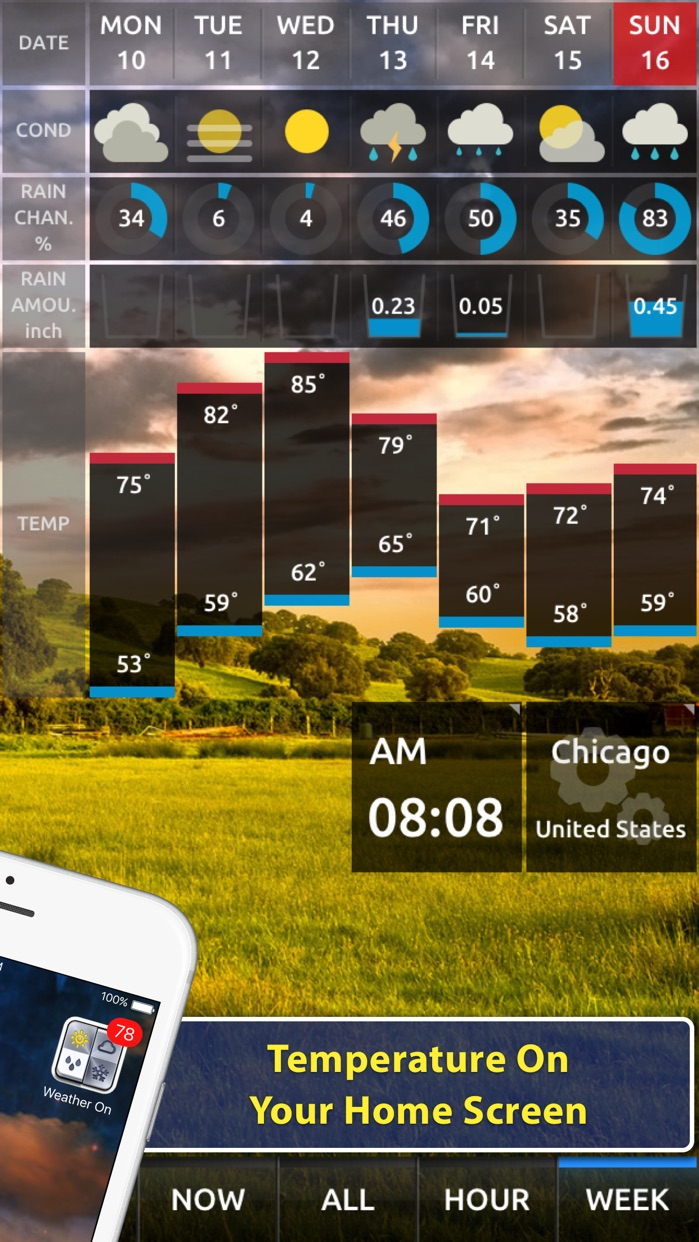 Weather On - Push Notification Screenshot