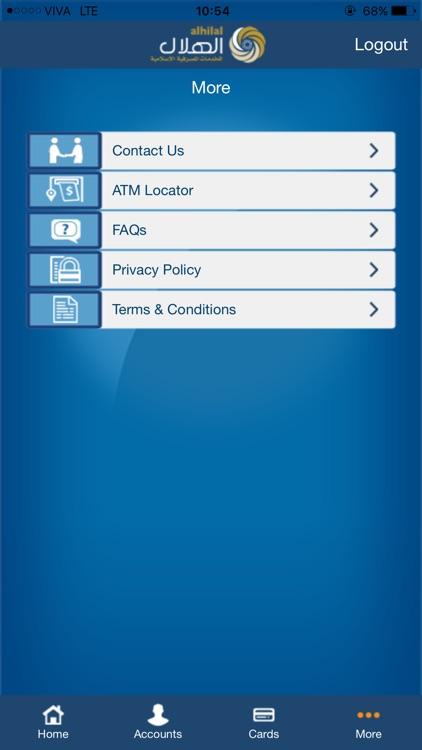 AUB Alhilal M-Bank for Mobile screenshot-4