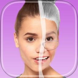 Make Me Old Makeover Photo Montage–Face Change.r