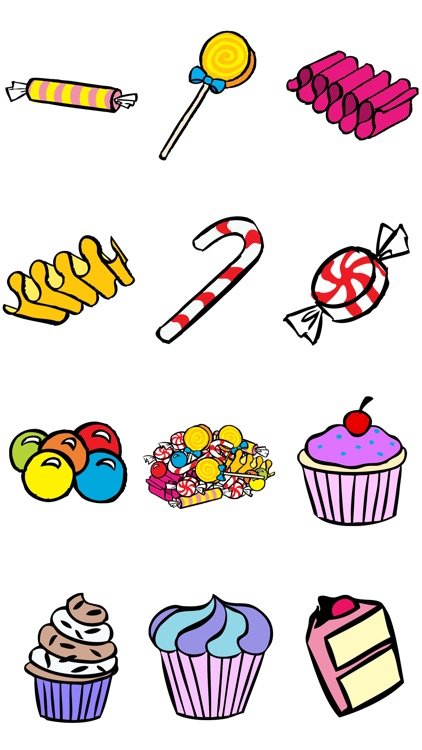Ice Cream, Candy and Cake Stickers screenshot-3