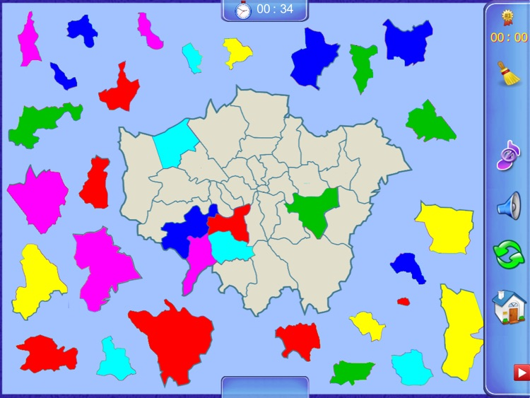 Greater London Puzzle Map screenshot-0