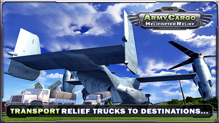 Army Cargo Helicopter Relief & Truck sim games