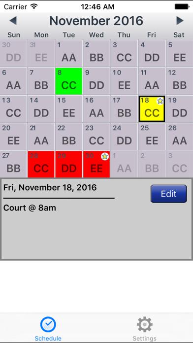 CopApp ! Calendar Schedule Repeating Shift App app image