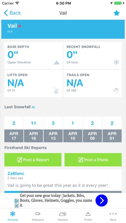 OnTheSnow Ski & Snow Report screenshot-1