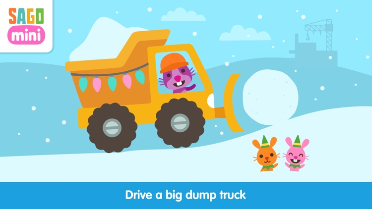 Sago Mini Holiday Trucks and Diggers screenshot-0