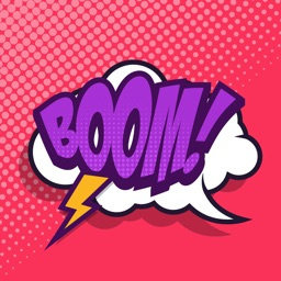 Boom! - Animated Comic Book Stickers