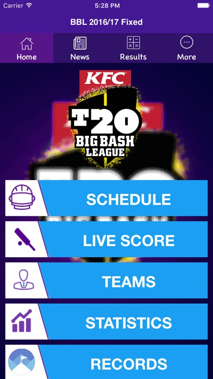 BBL T20 2016/2017 Fixtures,Schedule,Live Score screenshot-0
