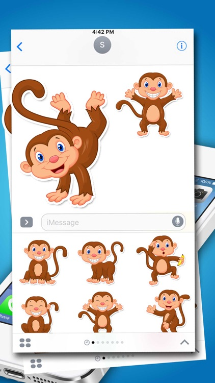 Monkey Expressions Emoticons Stickers