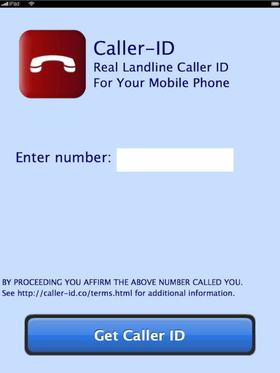 Screenshots of Caller-ID for iPad