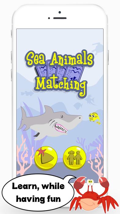 Sea Animals Matching Game Educational App for Kids screenshot one