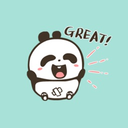 Cute Panda Stickers Pack for iMessage - Baby Panda