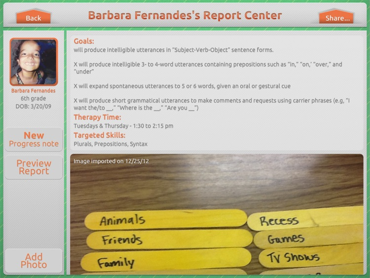 Therapy Report Center screenshot-1