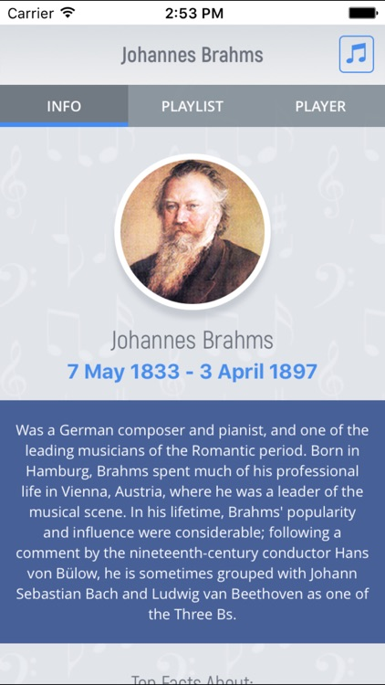 Johannes Brahms - Classical Music Full screenshot-0