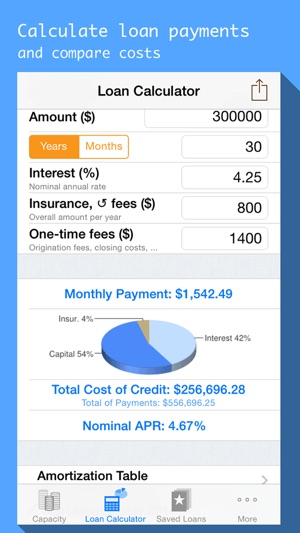 Mortgages  Loan Payment Calculator With Schedule On The App Store