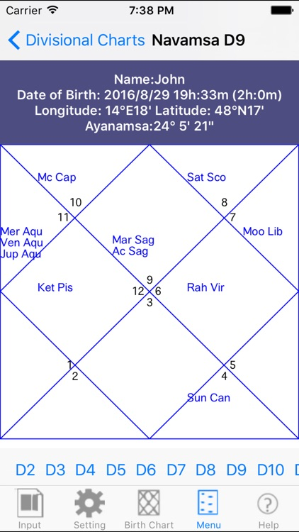 iHoroscope Vedic screenshot-3