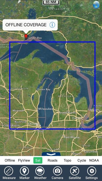 Michigan & Superior lakes charts GPS map Navigator screenshot-4