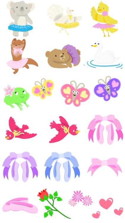 Ballet Stickers- Beautiful Ballerinas! screenshot-3