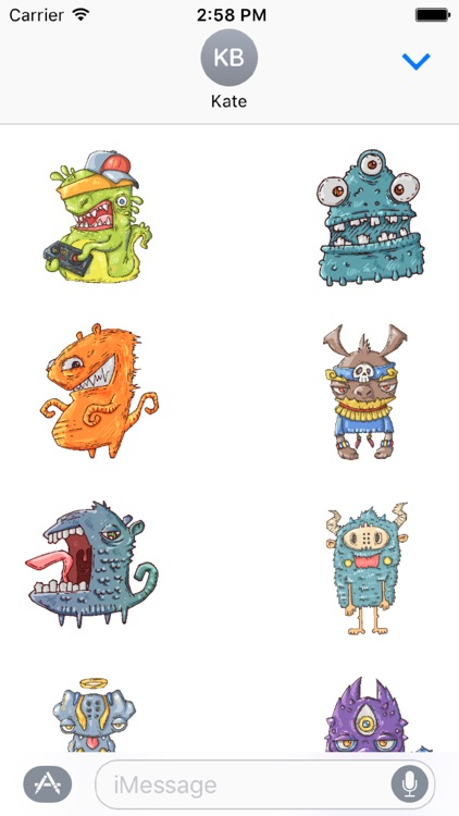 Happy Halloween Monster Stickers