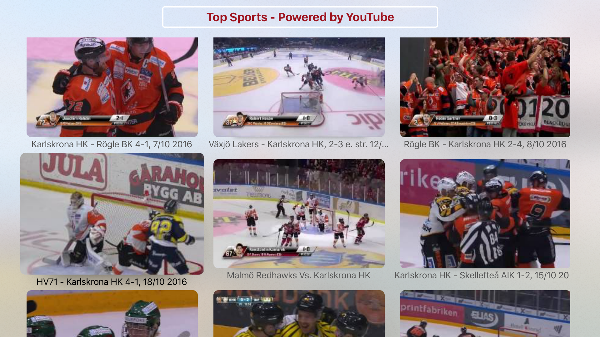Sports Latest & Highlights - Powered by YouTube screenshot 5