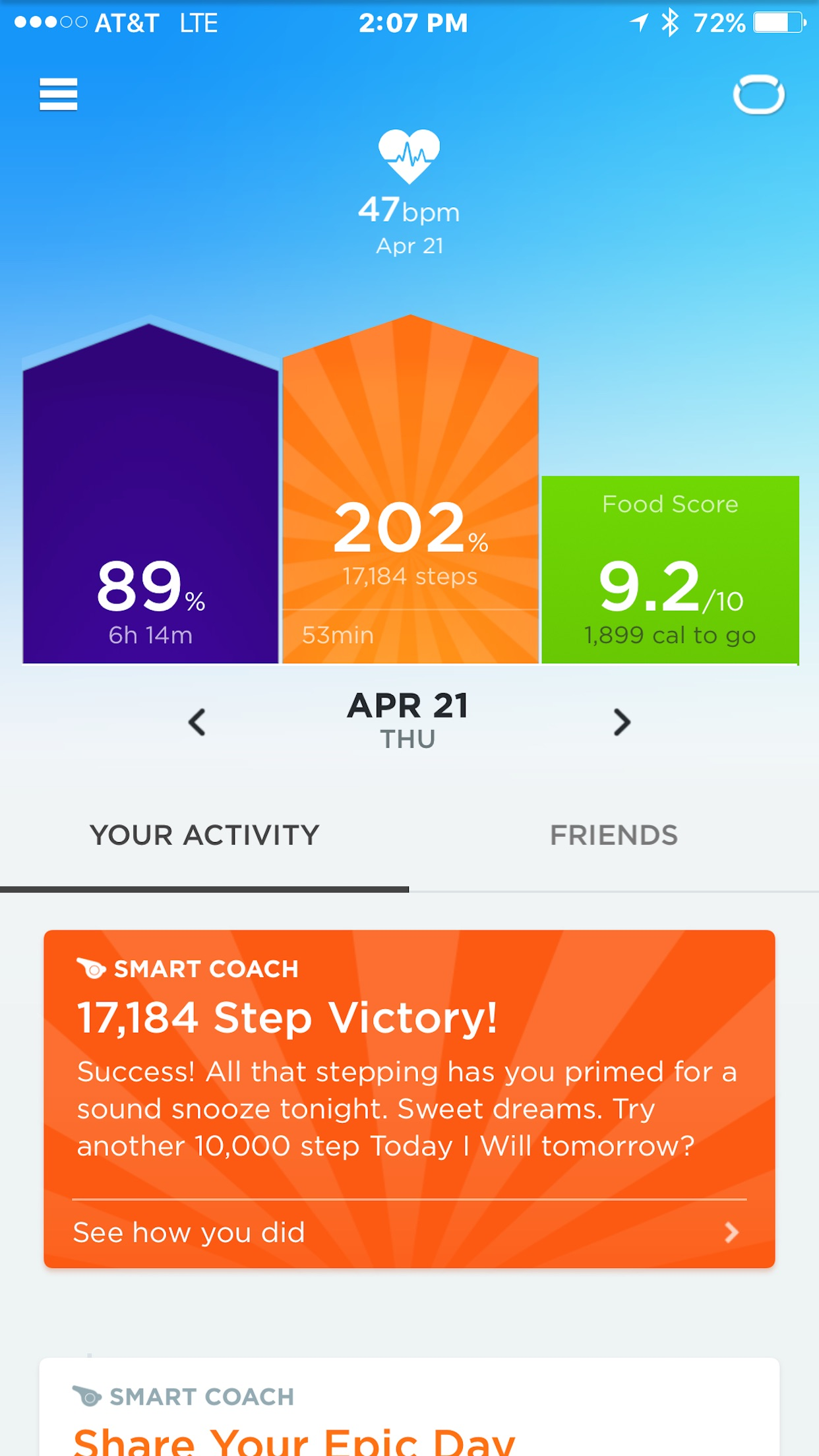 UP® – Smart Coach for Health Screenshot