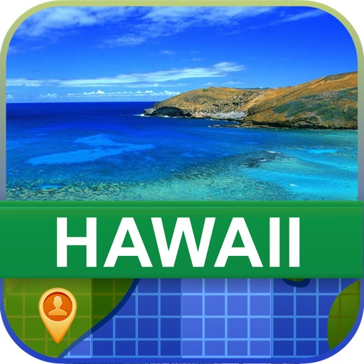 Offline Hawaii, USA Map - World Offline Maps