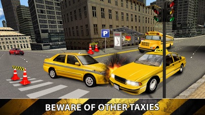 City Taxi Driver Sim 2016 - Yellow Cab Parking Maina in Las Vegas Real Traffic screenshot two