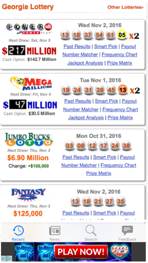 Lottery Results for Georgia on the App Store