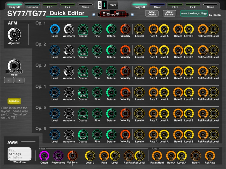 MD77: Voice Editor for Yamaha SY77/TG77 by Ibo Kai screenshot-0