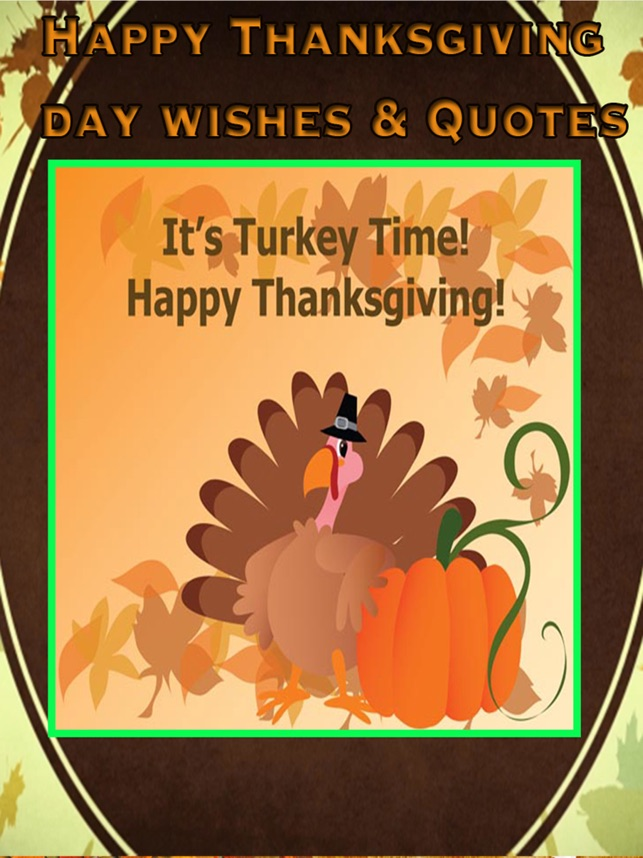Thanksgiving Day Wishes Card Quotes & Message on the App Store