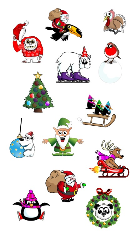 Crazy Animated Festive Stickers screenshot-3
