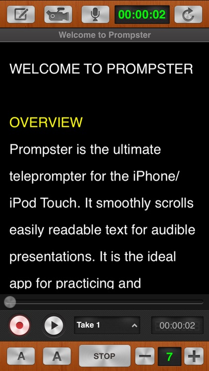 Prompster Pro™ - Teleprompter