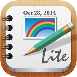 RainbowNote Lite: notebook/diary with photo calendar